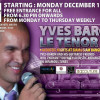Acoustic Nights at Siam@Siam Design Hotel bangkok with Yves Baron and Friends – 1st to 4th December 2014