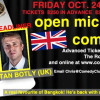Stand-up Comedy open mic @ The Comedy Club Bangkok! – Friday 24th October 2014