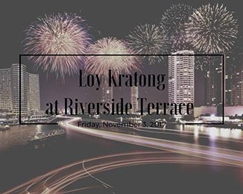 Loy Krathong Festival At Royal Orchid Sheraton Hotel & Towers – 3rd November 2017