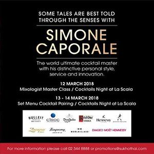 La Scala Cocktail Pairing with Simone Caporale At La Scala Bangkok – 13th March 2018