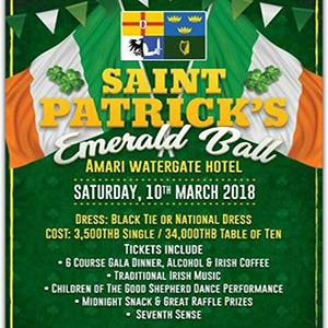 St. Patricks Emerald Ball 2018 At Amari Watergate Bangkok – 10th March 2018
