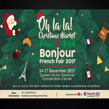 """Bonjour French Fair 2017 """"Oh La La! Christmas Market"""" 14-17 December 2017"""