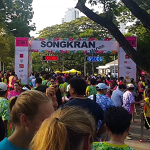 Songkran Run 2018 At Lumphini Park – 1st April 2018