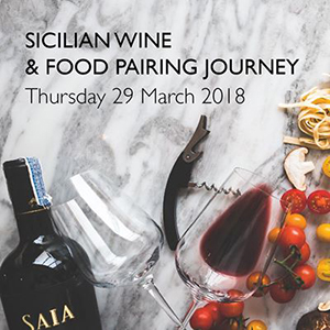 Sicilian Wine & Food Pairing Journey At ZOOM Sky Bar & Restaurant – 29th March 2018