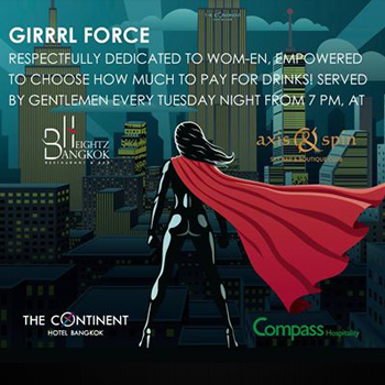 Girrrl Force – Ladies Night At The Continent Hotel – 27th March 2018