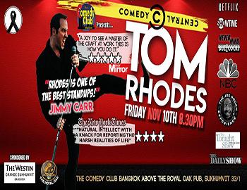 Stand-Up Comedy – TOM RHODES At The Comedy Club Bangkok – 10th November 2017