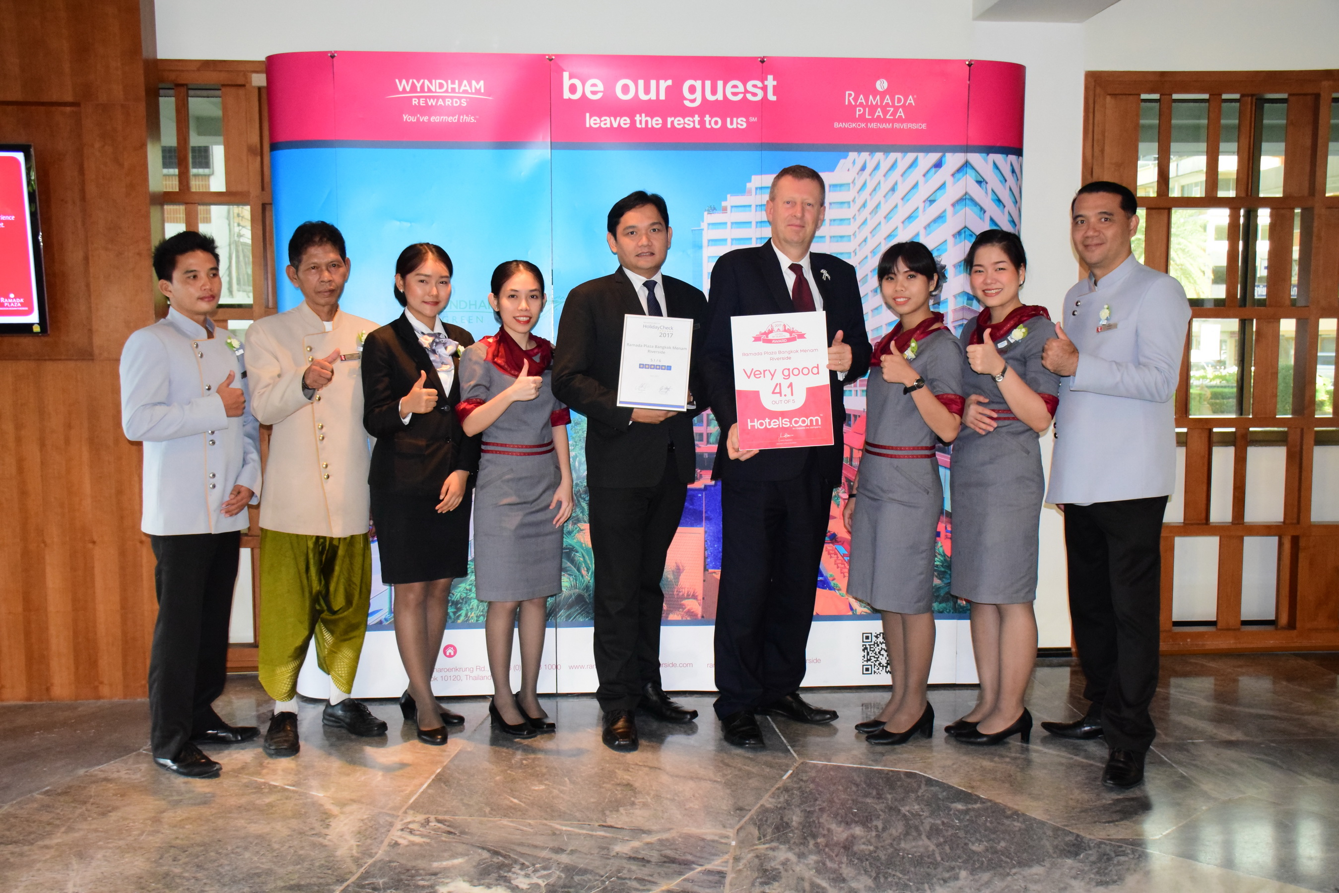 2 Awards of Appreciation by Travelers