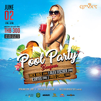 Pool Party at AmBar Bangkok – 02 June 2018