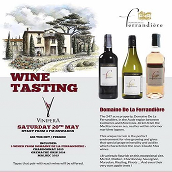 Wine Tasting – Domaine de la Ferrandière at Vinifera Bangkok – 20 May 2017
