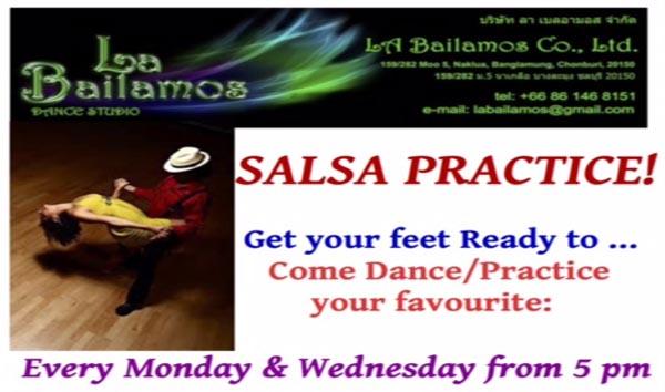 "Every Monday & Wednesday ""Salsa Practice!"" at La Bailamos Dance Studio"