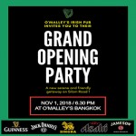 O'Malley's Irish Pub Grand Opening Party - Silom Road Bangkok - 1 November 2018