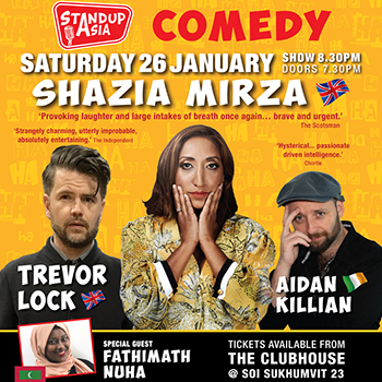 Shazia Mirza in Bangkok at The Westin Grande Sukhumvit – 26 January 2019