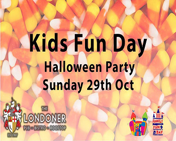 Halloween Kids Fun Day At The Londoner Brew Pub – 29 October 2017