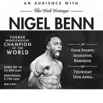 NIGEL BENN at Four Points by Sheraton Bangkok - 12 April 2018