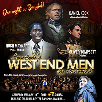 London's West End Men in Concert at Thailand Cultural Centre – 19th January 2019