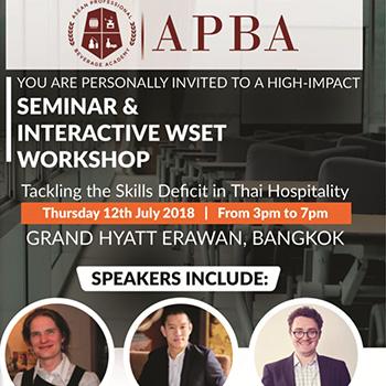 Seminar: Tackling the Skills Crisis in Thai Hospitality Industry at Grand Hyatt Erawan – 12 July 2018