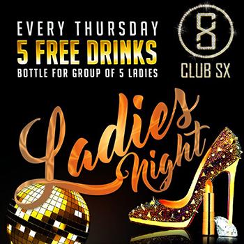 Ladies Night at Club XS Bangkok – Every Thursday