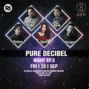 Pure Decibel at Club XS Bangkok – 28 September 2018