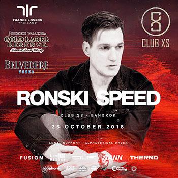 Dj Ronski Speed at Club XS Bangkok – 26 October 2018