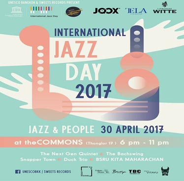 International Jazz Day 2017 at The Commons – Sunday 30th April 2017
