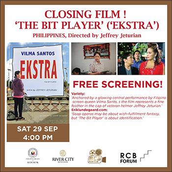 River City Bangkok Film Club – 'THE BIT PLAYER' ('EKSTRA'), PHILIPPINES – 29 September 2018