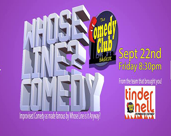 WHOSE LINE? – Improv Comedy At Comedy Club Bangkok – 22 September 2017