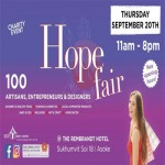 The Hope Fair : Back from Summer Break at Rembrandt Hotel & Towers, Bangkok - Thursday 20th September 2018