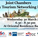 Joint Chambers Travel & Tourism Networking Evening at Oriental Residence Bangkok On Wednesday 30 March 2016