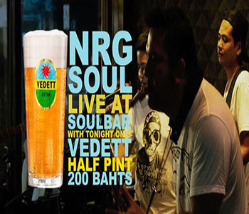 Vedett present NRG SOUL live at Soulbar – 28 September 2017