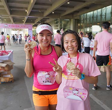 Hello Kitty Run Bangkok 2017 at Makkasan Station Airportlink – Sunday 26th February