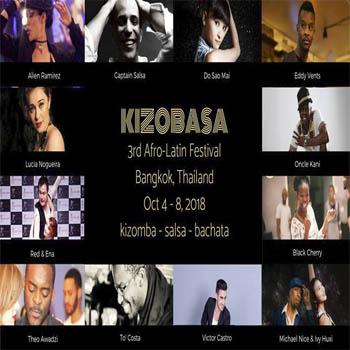 Kizobasa 2018 3rd Afro Latin Festival at Mercure Bangkok Makkasan – 4th to 9th Ocober