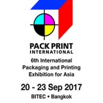 PACK PRINT INTERNATIONAL 2017 AT BITEC / 20-23 SEPTEMBER 2017