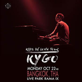 Kygo Kids in Love Tour Bangkok Thailand at Live Park Rama 9 – Monday 22nd October 2018
