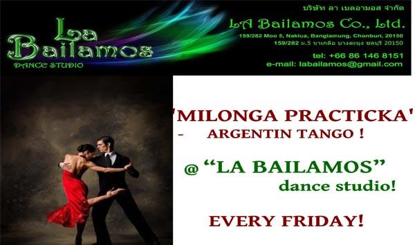 "Every Friday ""Milonga Practicka"" Argentin Tango at La Bailamos Dance Studio"