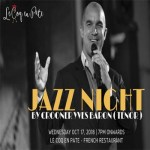 Jazz Evening at Le Coq en Pâte - Wednesday 17th October 2018