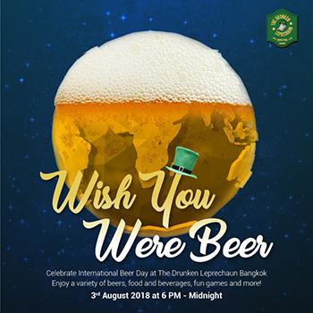 International Beer Day at The Drunken Leprechaun Bangkok – 3 August 2018