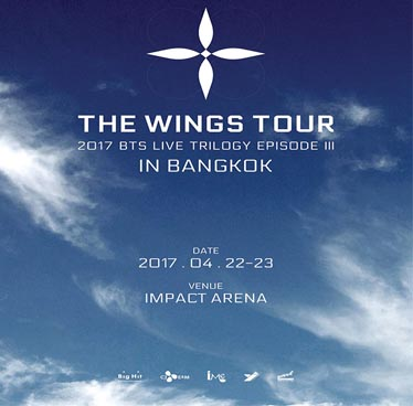 2017 BTS live trilogy episode III the wings tour in Bangkok at Impact Arena – 22nd to 23rd April