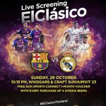 FC Barcelona vs Real Madrid Live Screening at at Whisgars & Craft Sukhumvit 23 - 28 October 2018