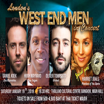 WIN TWO TICKETS TO SEE LONDON'S WEST END MEN IN CONCERT
