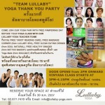 Team Lullaby Thank You Party at Lullaby @ All Season Place, Bangkok – 31st August 2014