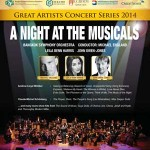 A Night at the Musicals @ Thailand Cultural Center – Friday 17th October 2014