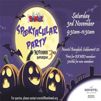 Spooktacular Party at Novotel Bangkok Sukhumvit 20 – Saturday 3rd November 2018