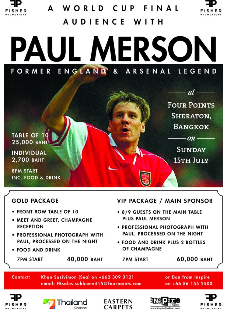 Audience with Paul Merson A3 OL