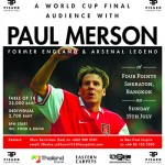 An audience with former Arsenal and England legend Paul Merson in Bangkok - 15 July 2018