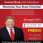 World's Fastest Reader Howard Berg Live in Bangkok(Free) At Novotel - 20 August, 2017