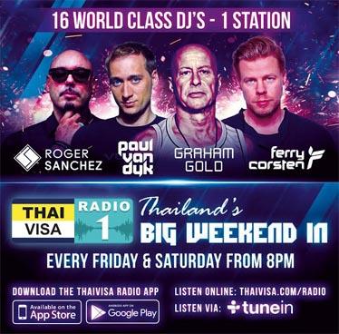 16 World Class DJs on Thaivisa Radio 1