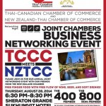 Joint Chambers NZTCC/TCCC Business Networking @ Sheraton Grande Sukhumvit – 28th August 2014