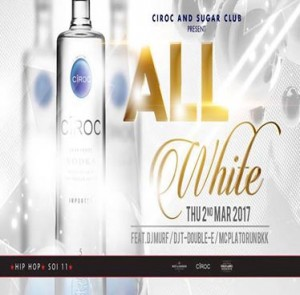 Dress All White at Sugar Club – Thursday 2nd March 2017