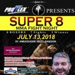 Super 8 MMA Fight Night at Ambassador Bangkok Hotel - 13 July 2018